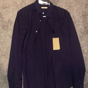 Burberry purple dress shirt size Small